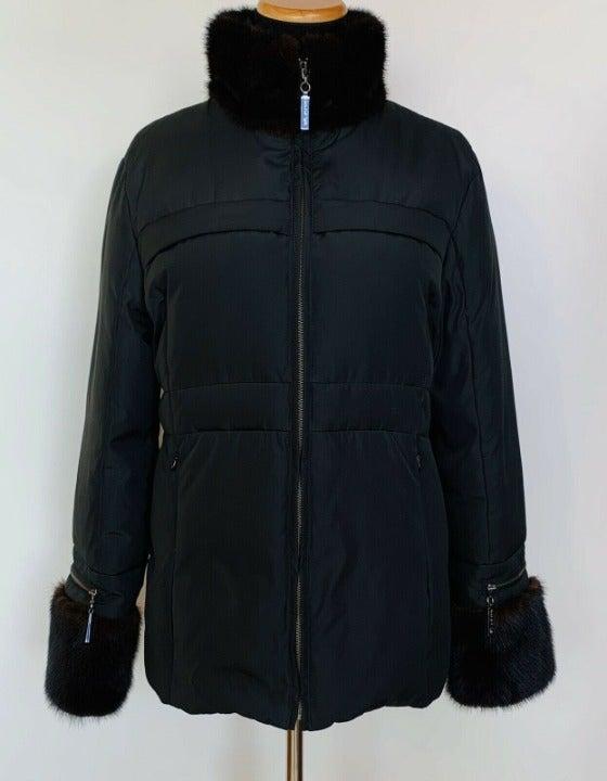 St John Womens Black  Down Coat Jacket M
