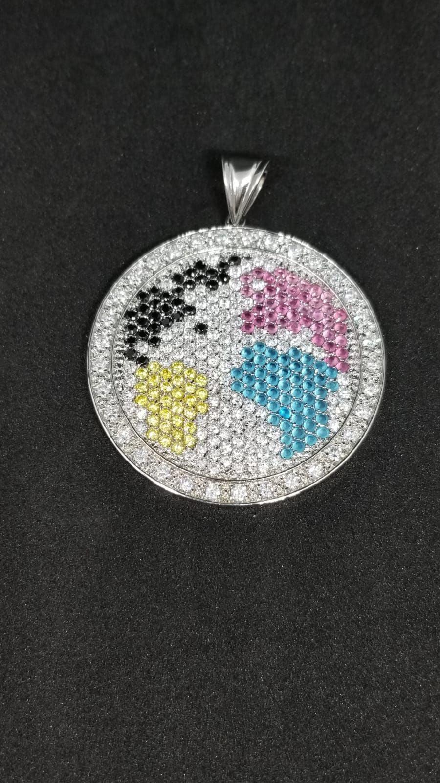 Globe pendant 925 sterling 14 K GP