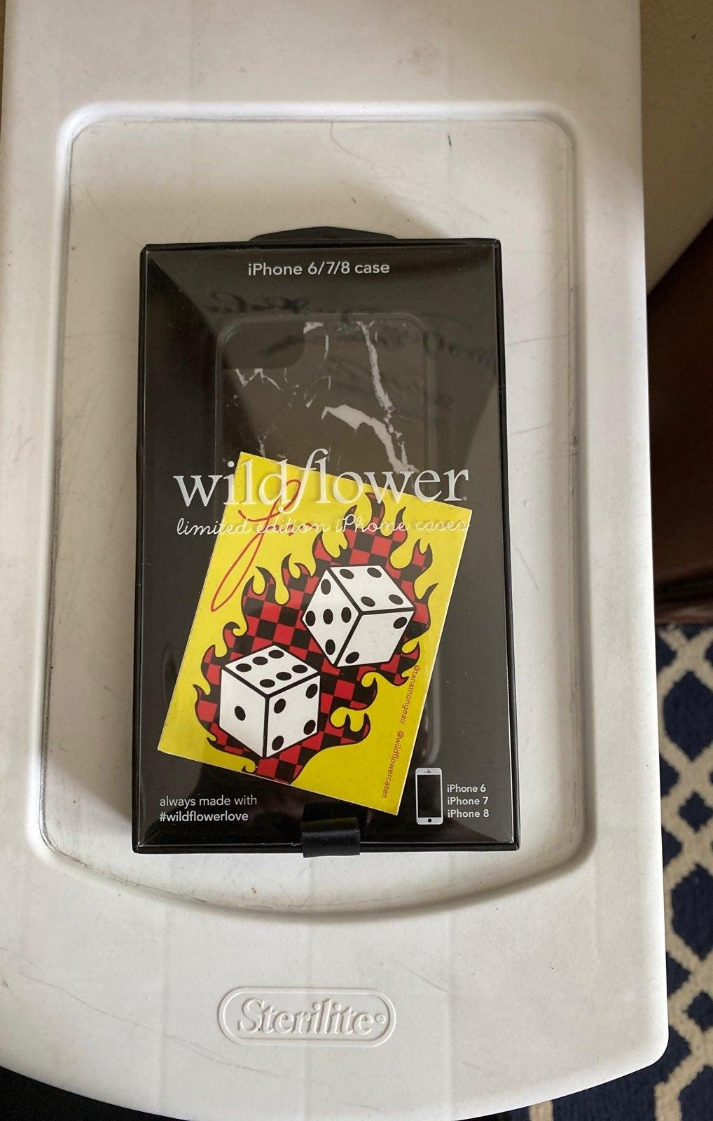 Brand new wildflower black marble case