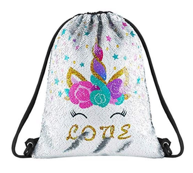 NWOT-Unicorn Reversible Sequin Bag