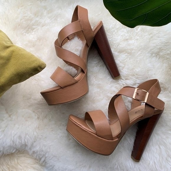 Bamboo Platform Sandal