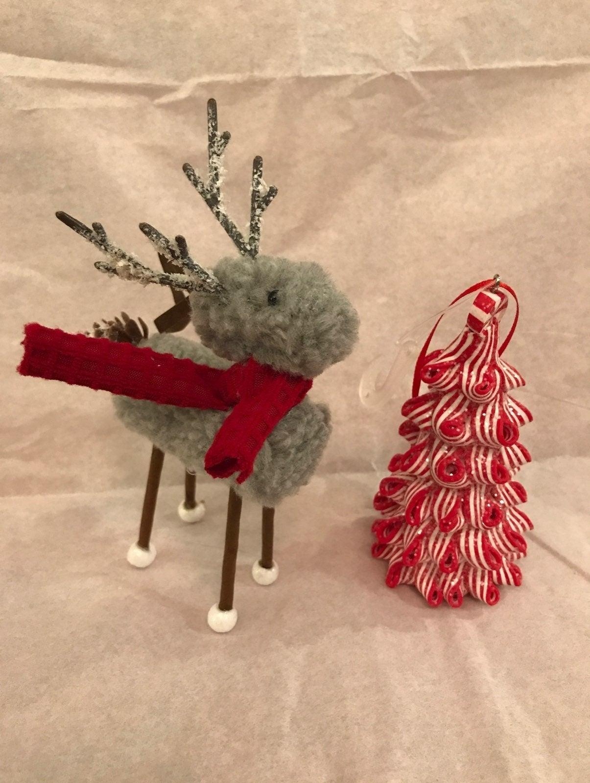 Reindeer & candycane peppermint tree