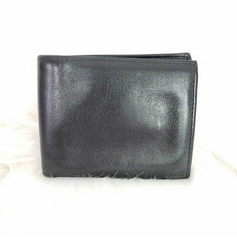 Cole Haan smooth black leather bifold wa