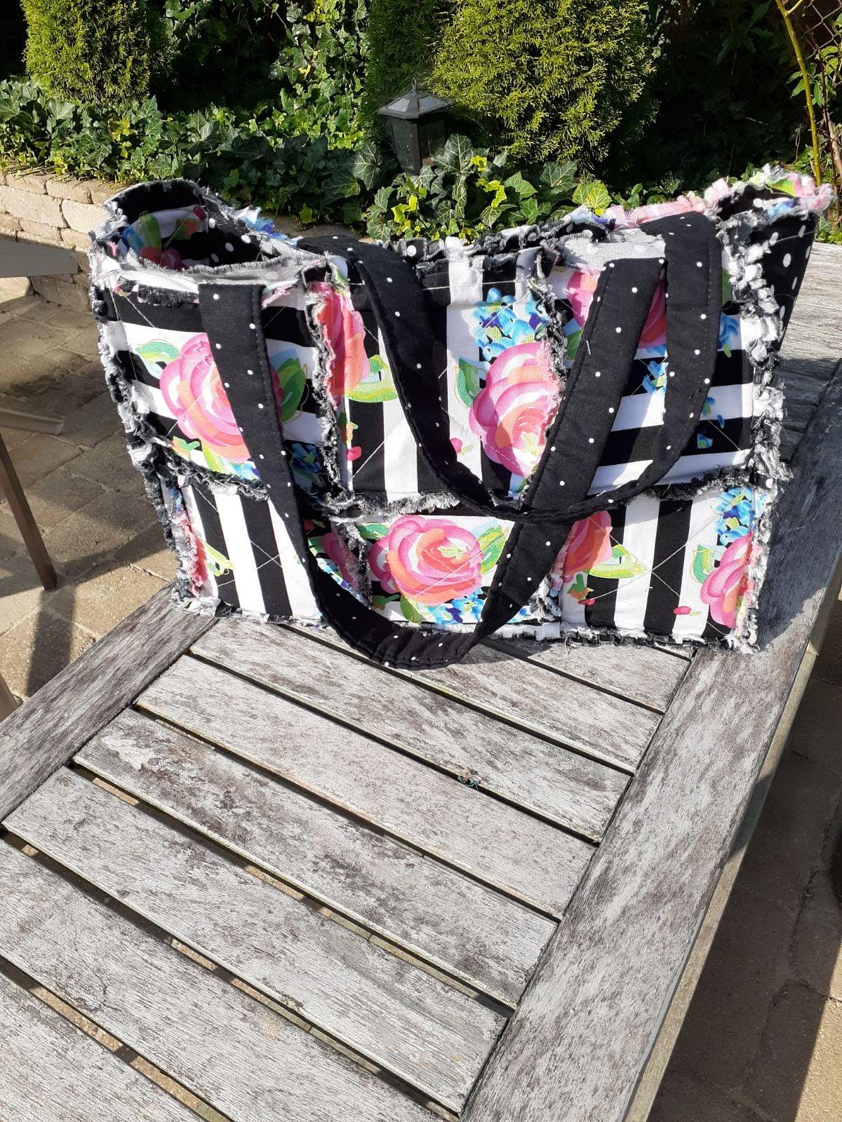 Handmade tote /purse/ cotton washable