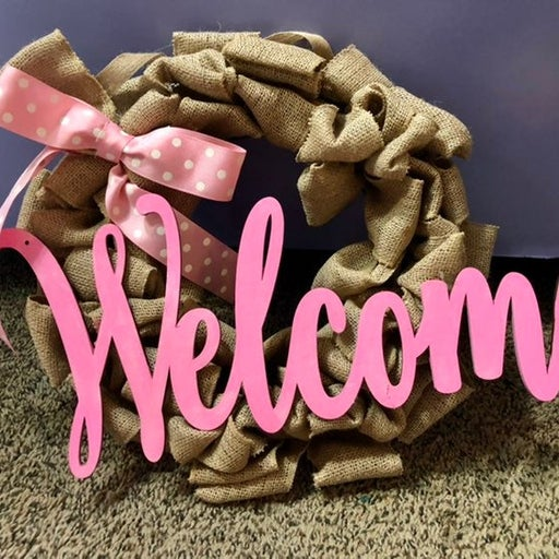 "Delightful ""Welcome"" Wreath"