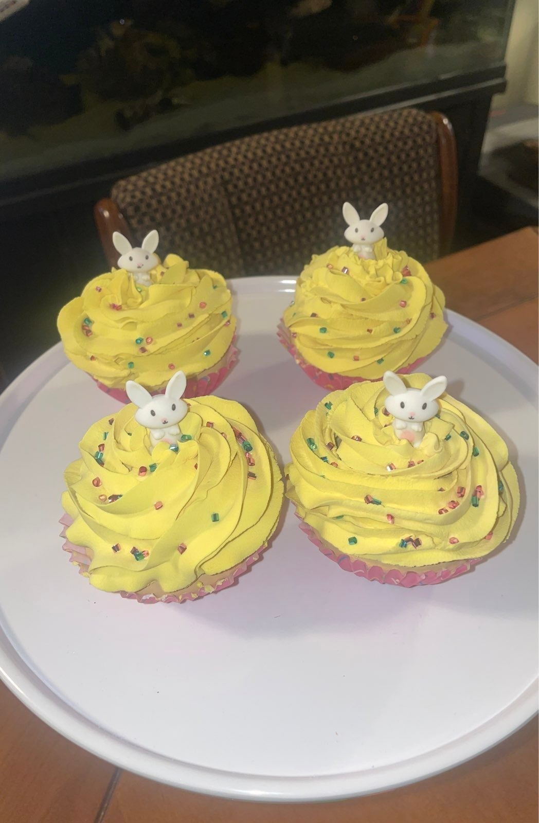 Faux easter bunny cupcakes