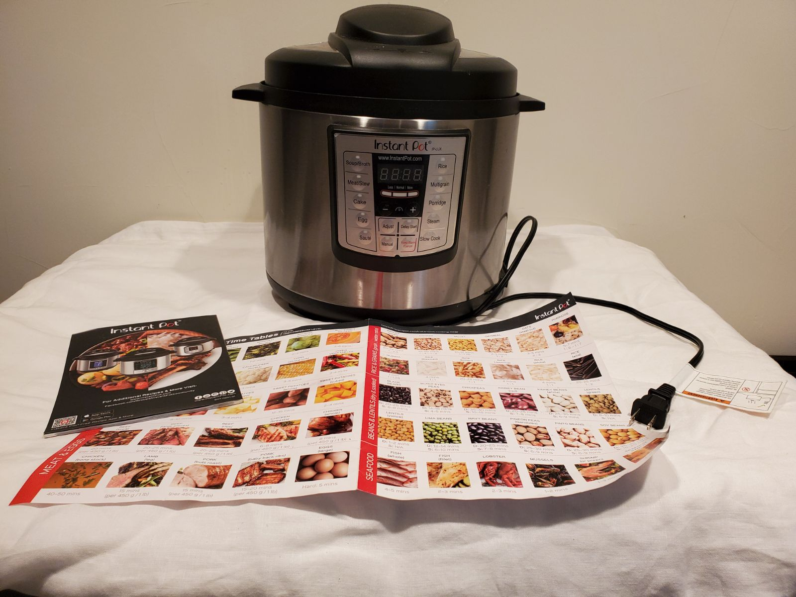 Instant Pot with fast and easy cookbook