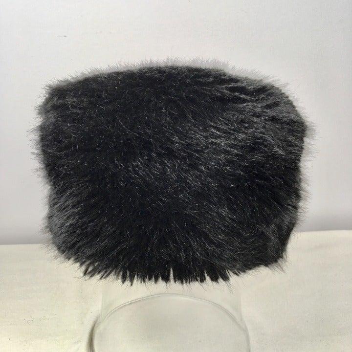 FRR Faux Fur Hat Mod Black Dome Russian