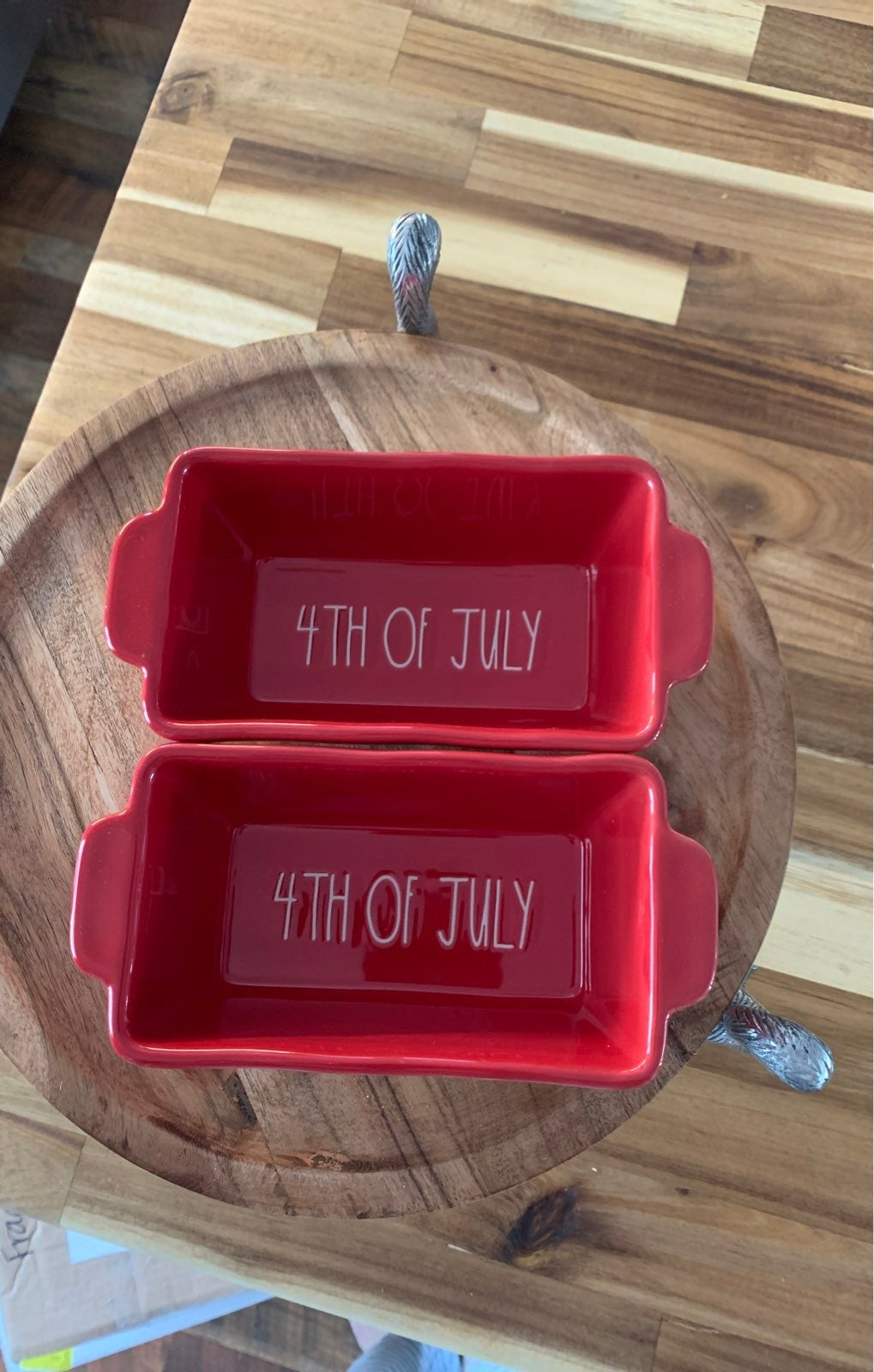 Rae Dunn 4th of july mini loaf pans