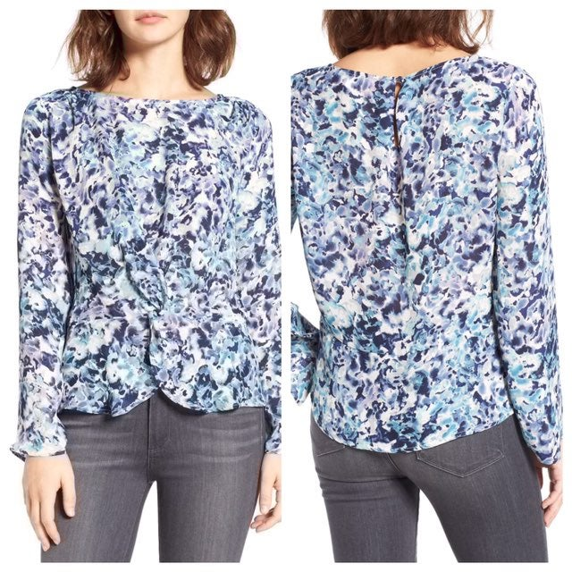 Cupcakes and Cashmere Lara Twist Front T