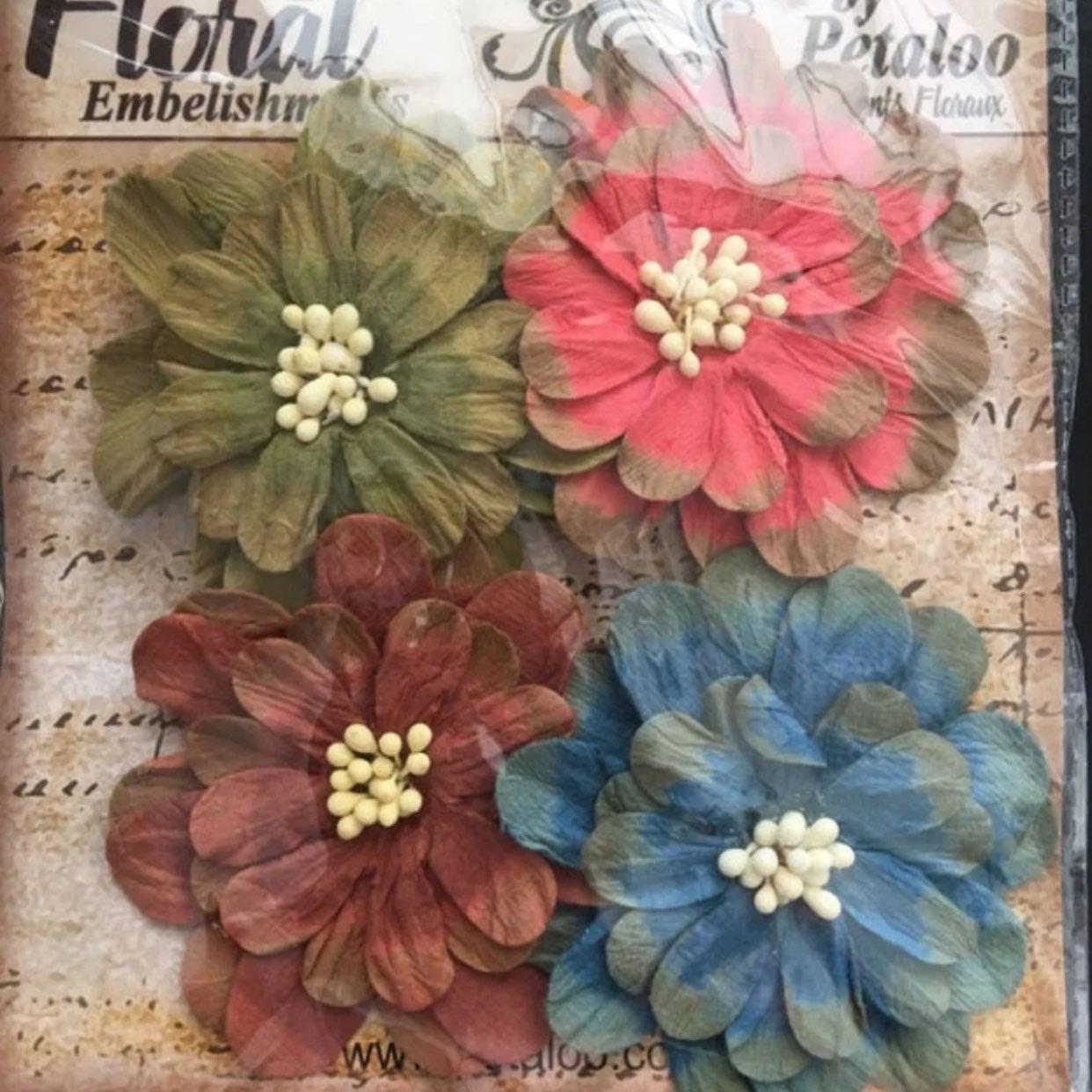 Vintage Ephemera Petaloo Paper Flowers