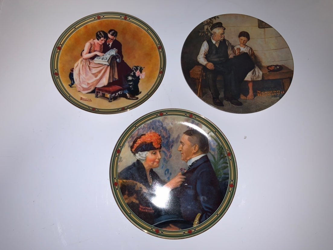 Norman Rockwell decorative plate bundle