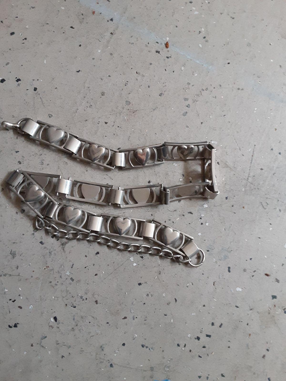 Heart silver belt