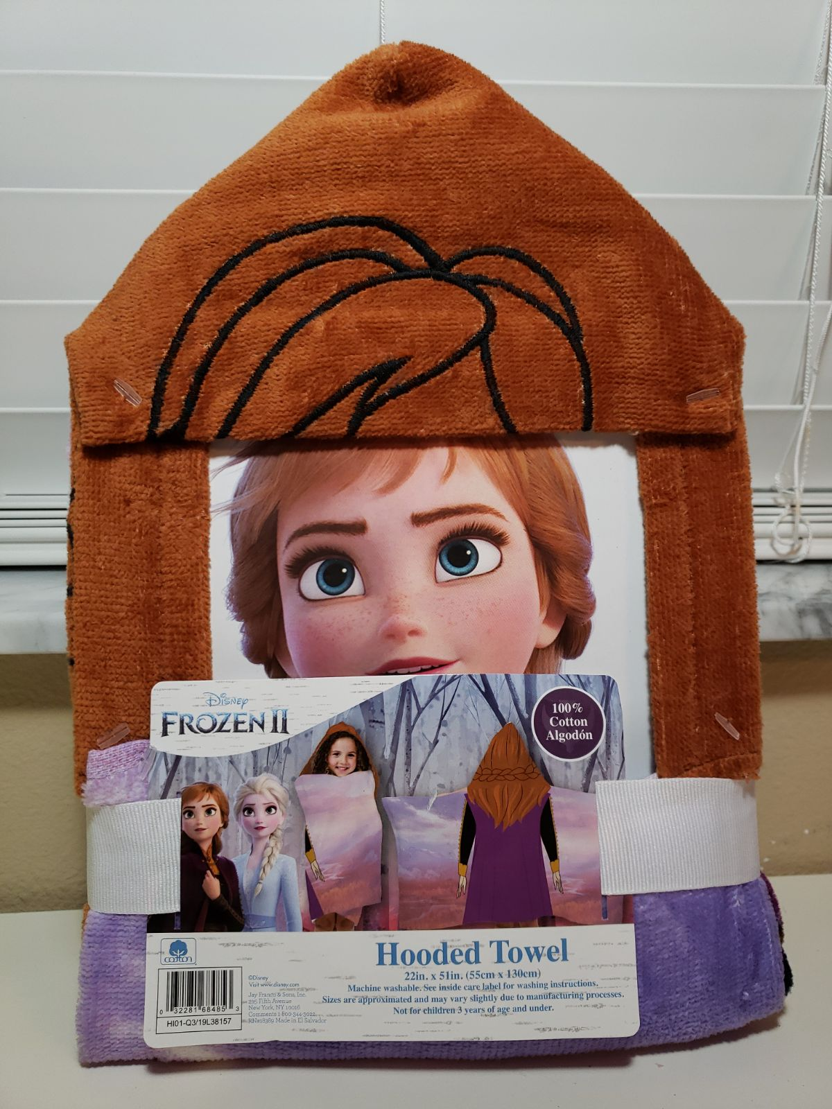 Disney Frozen 2 Anna Hooded Towel 100% C