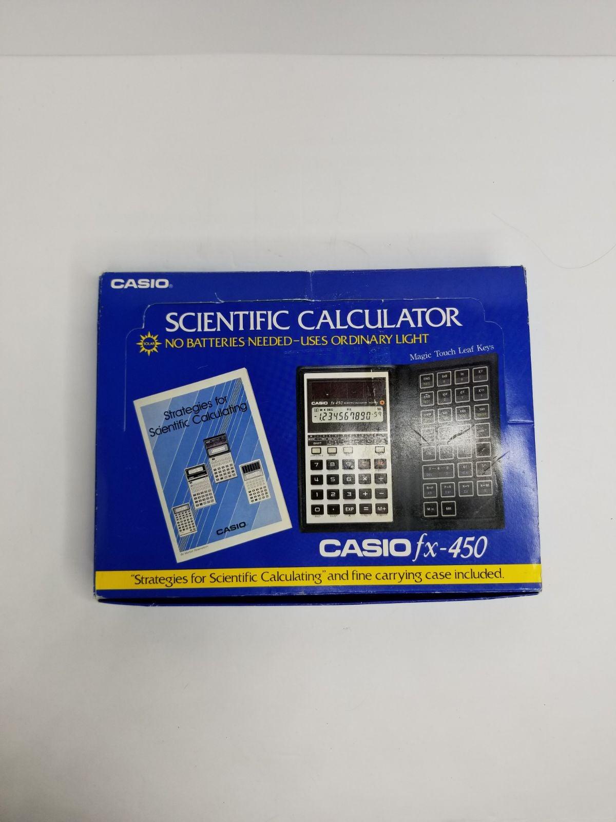 Casio fx-450 Solar Cell Calculator