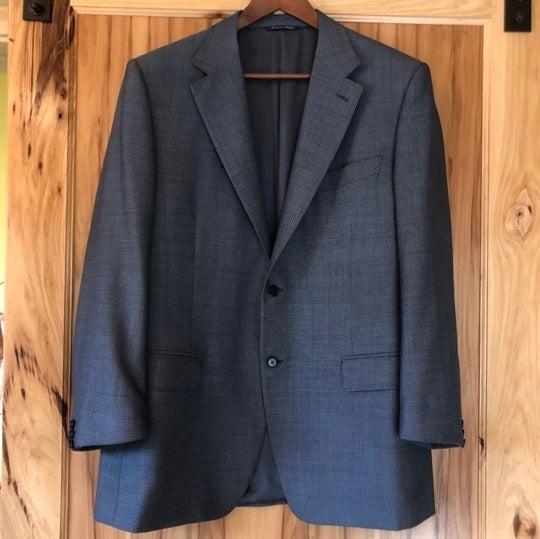 Men's Canali Blue Wool Blazer 44R