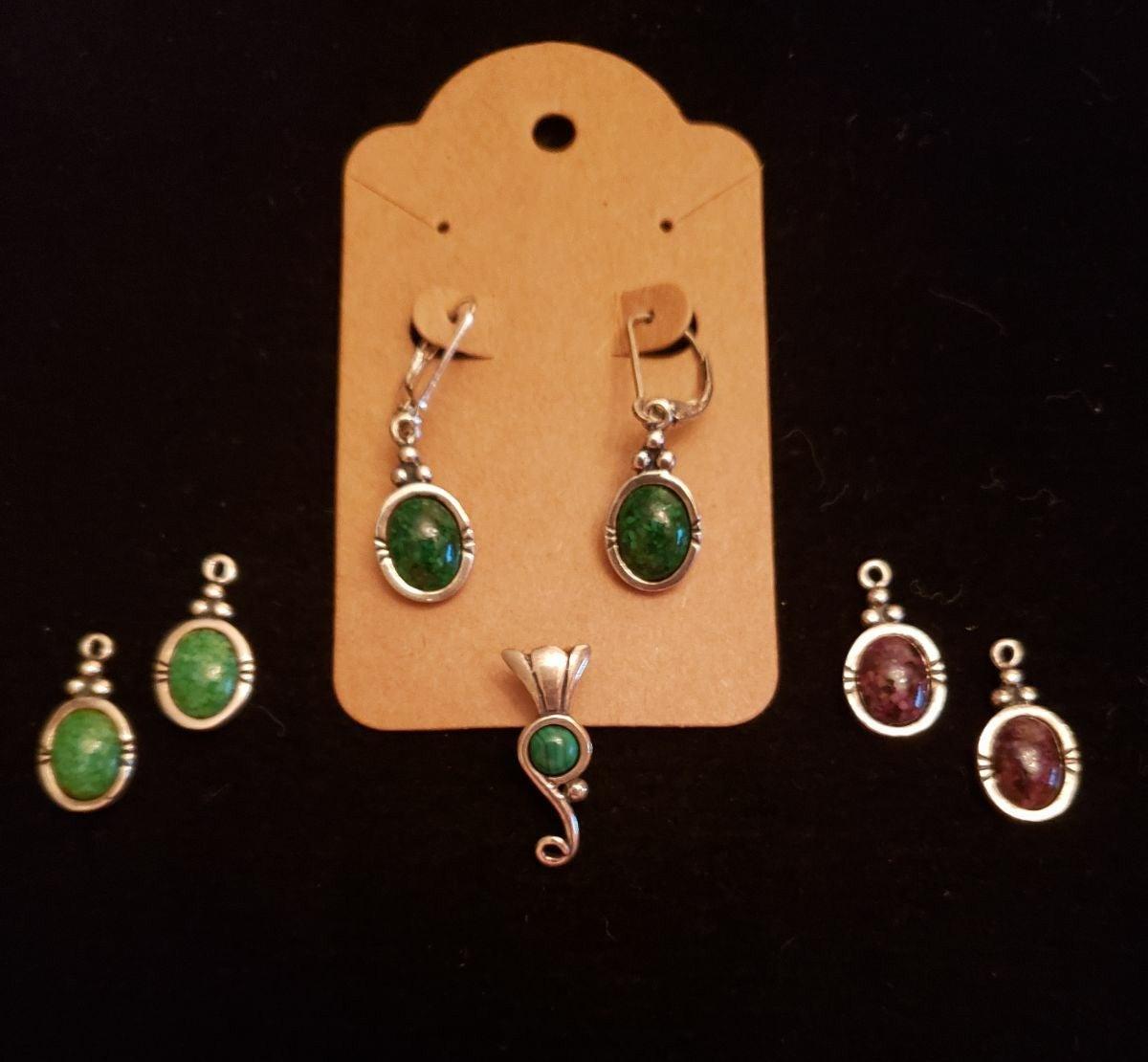 Sterling Silver Pendant & Earrings