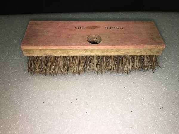 Vtg Rug Brush Cedar Base? w/ Screw hole