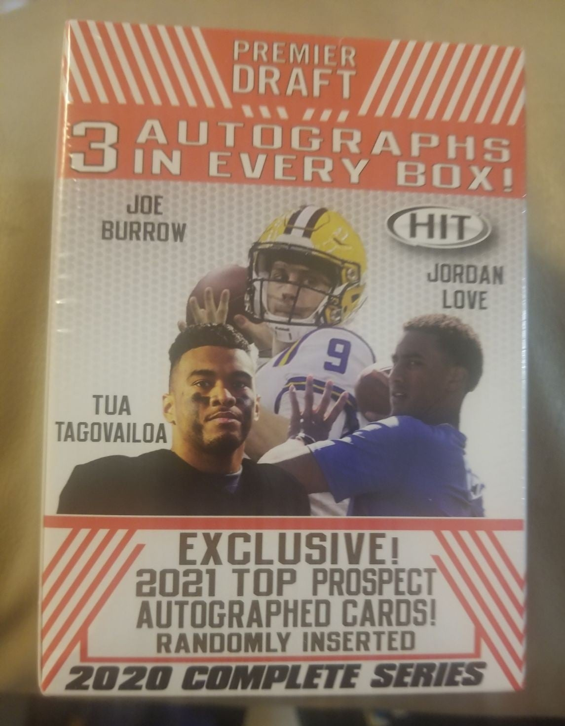 Sage Football card box / 3 autos new