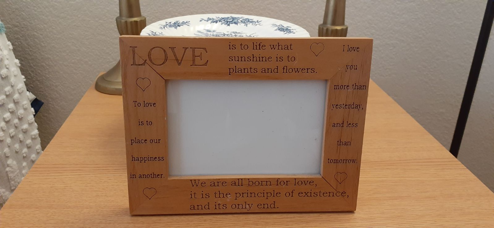 Love Wood Picture Frame