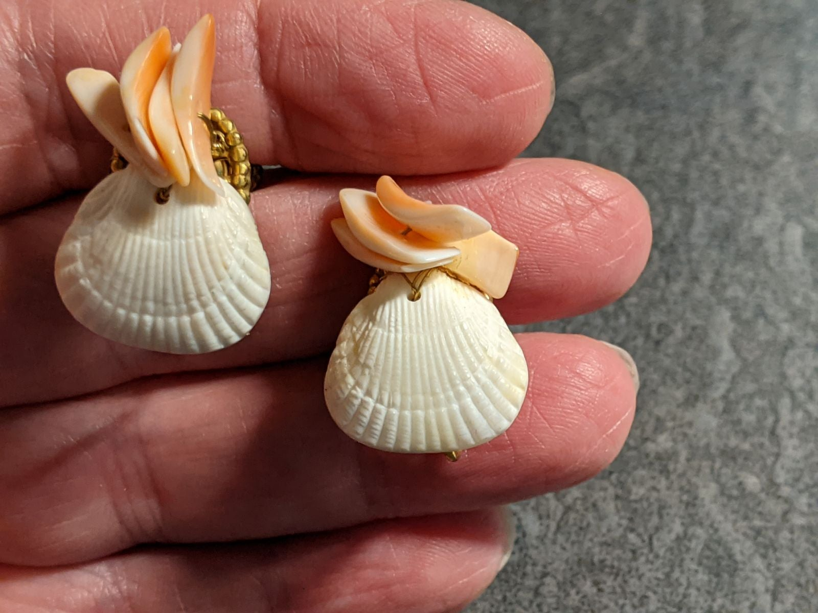 Classic Miriam Haskell Shell Earrings