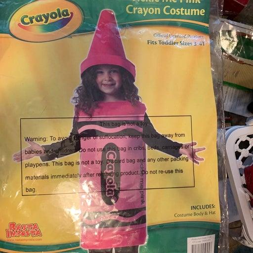 Crayola Costume Tickle Me Pink Sz 3-4
