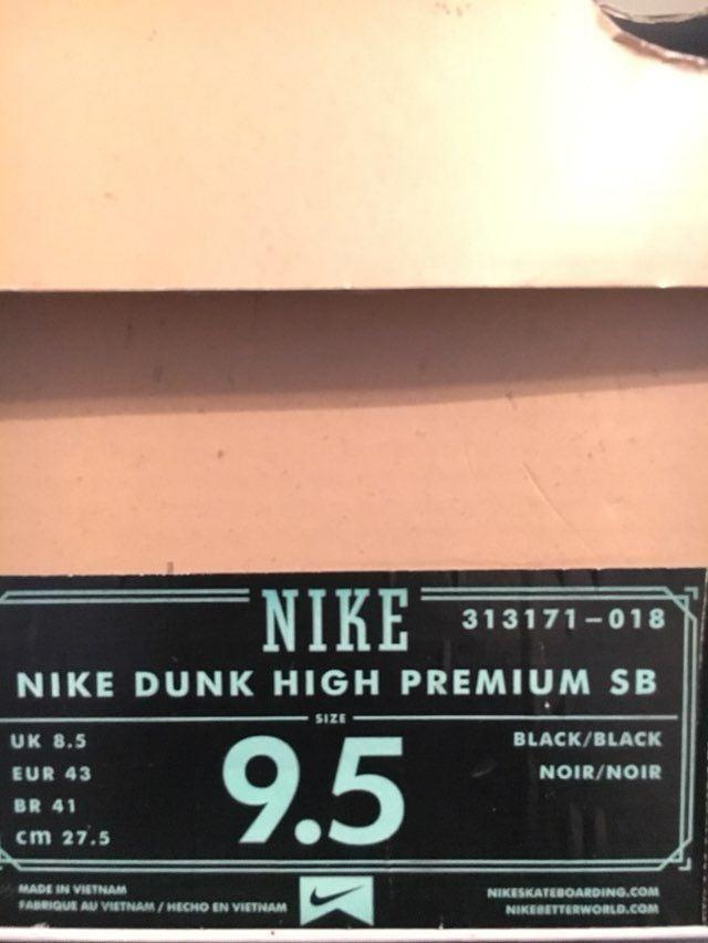 "VNDS-Nike Dunk High SB ""Neckface"" Sz 9.5"