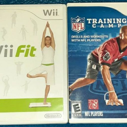 Wii Fit & NFL Training Camp Game Bundle