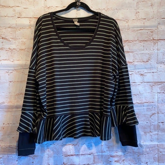 Free people round about tee long sleeve