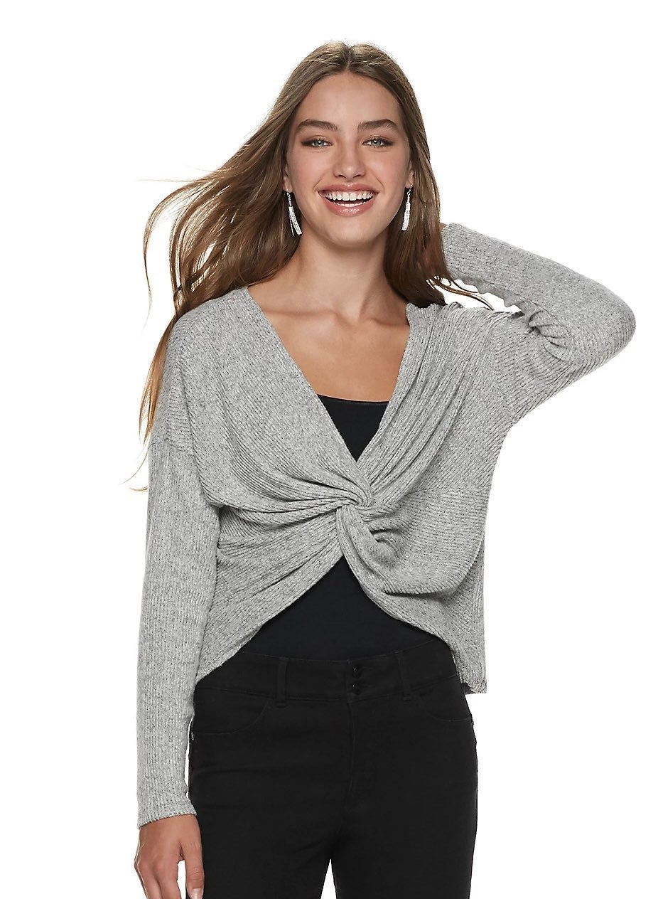 Candies twist front reversible Sweater