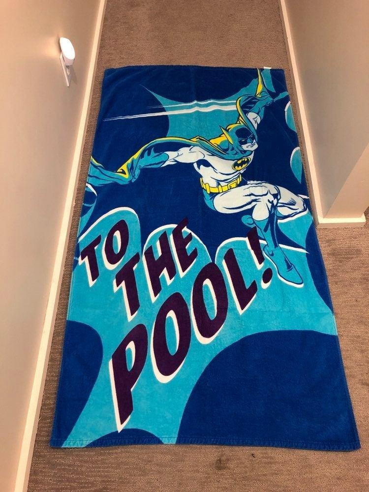"Batman ""To the Pool"" Towel"