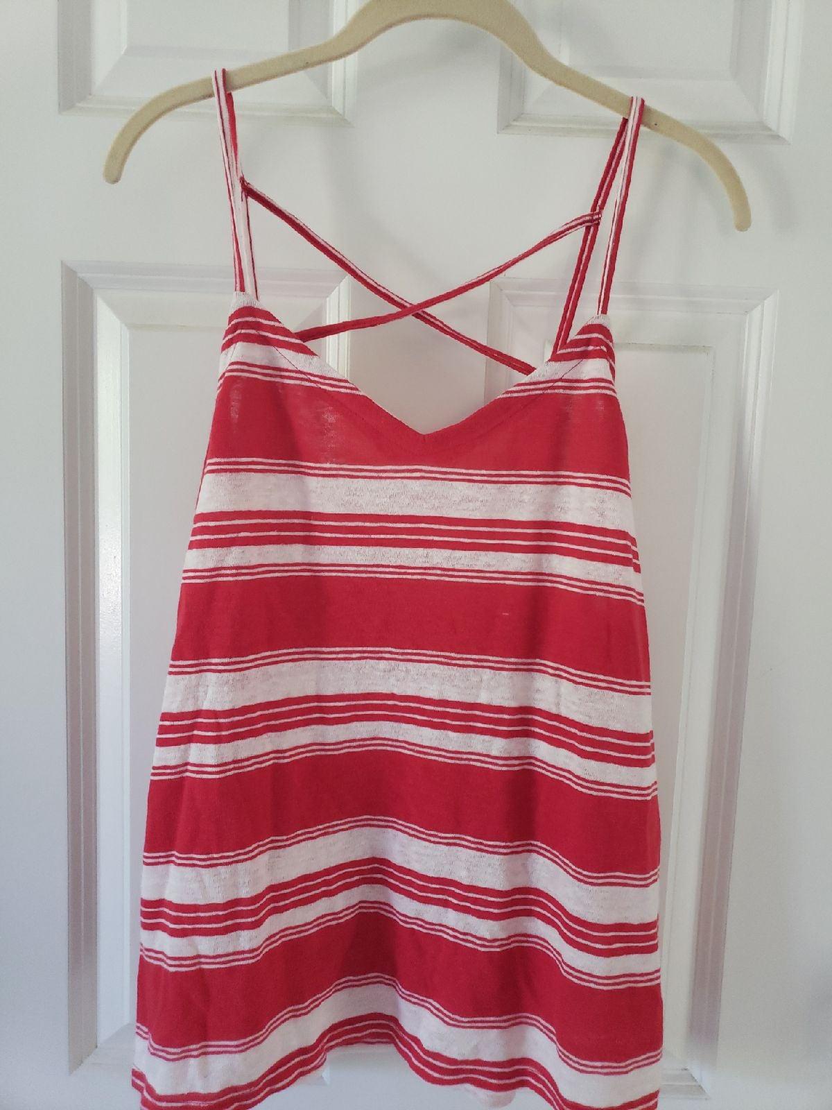 Red & White Striped Tank