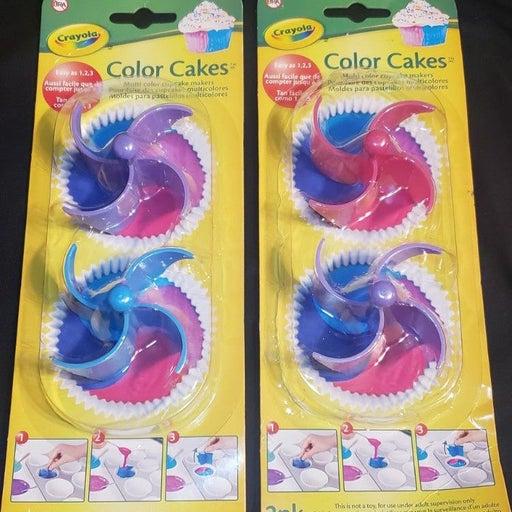 NEW 2pk Crayola Cupcake Color Cakes