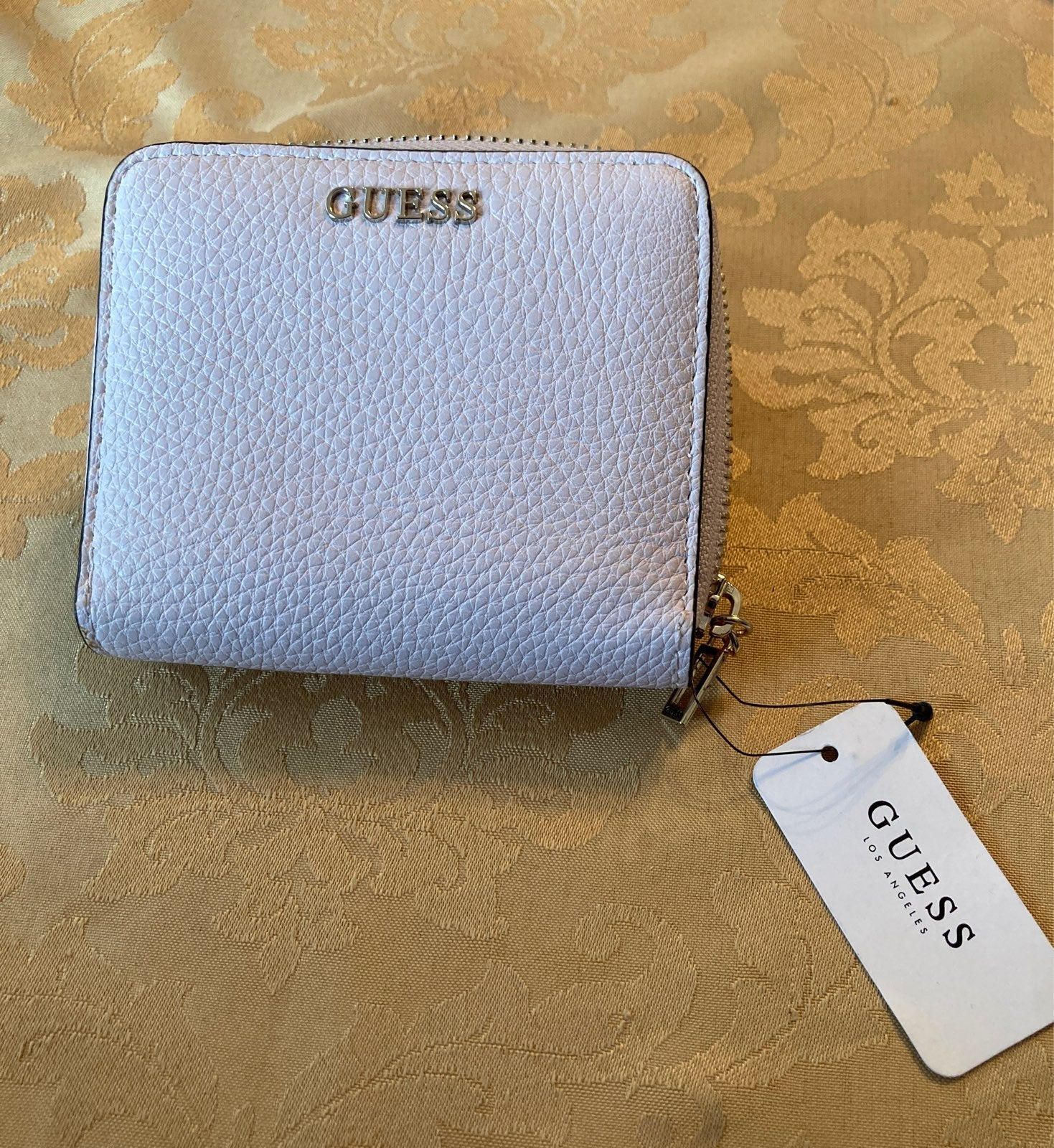 Guess Lilac Zip Around Wallet