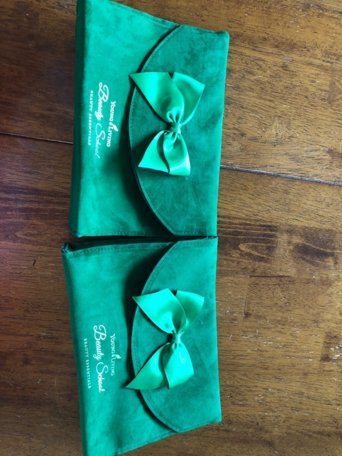 2 Green Young Living Bags