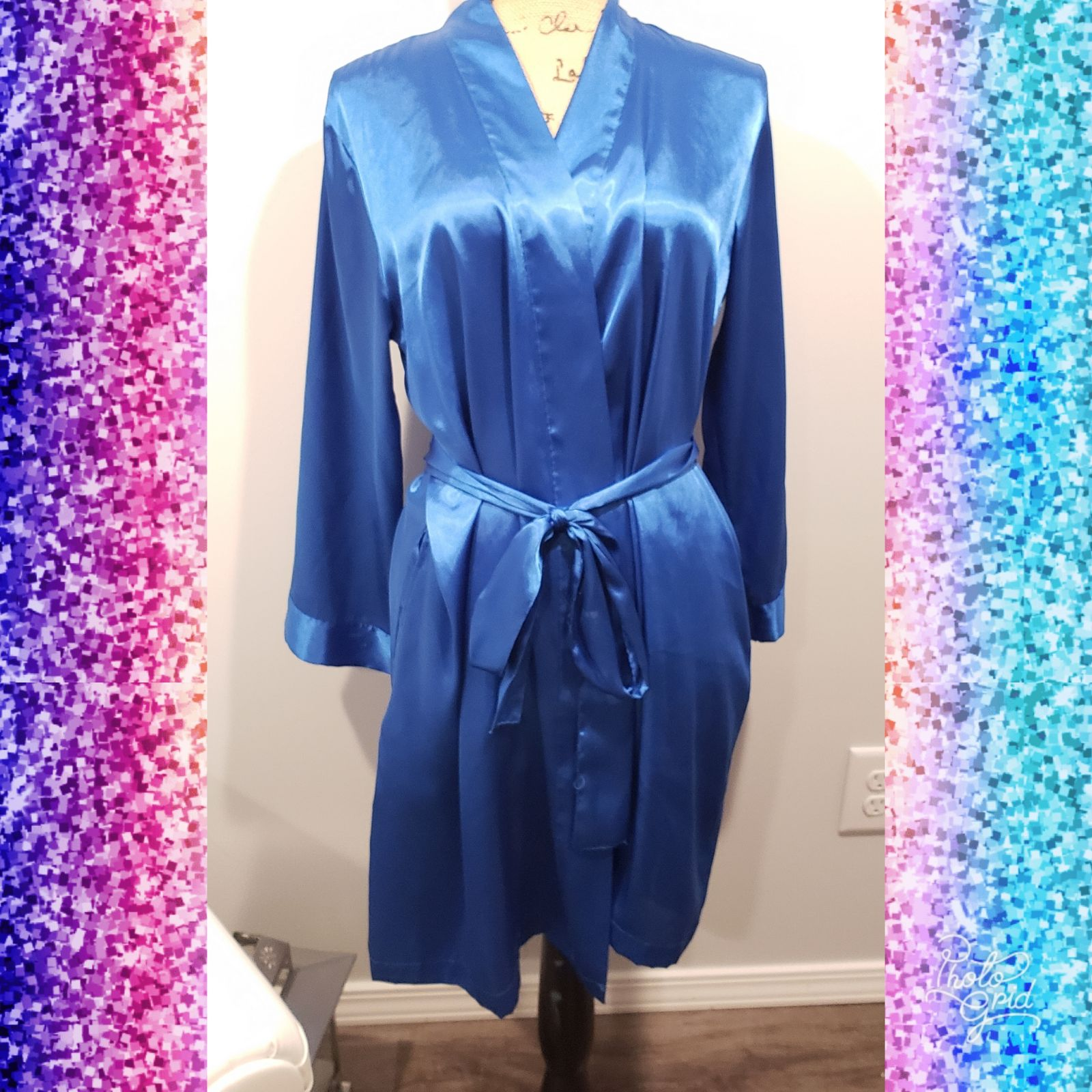 Morgan Taylor Sexy Blue Silky Robe