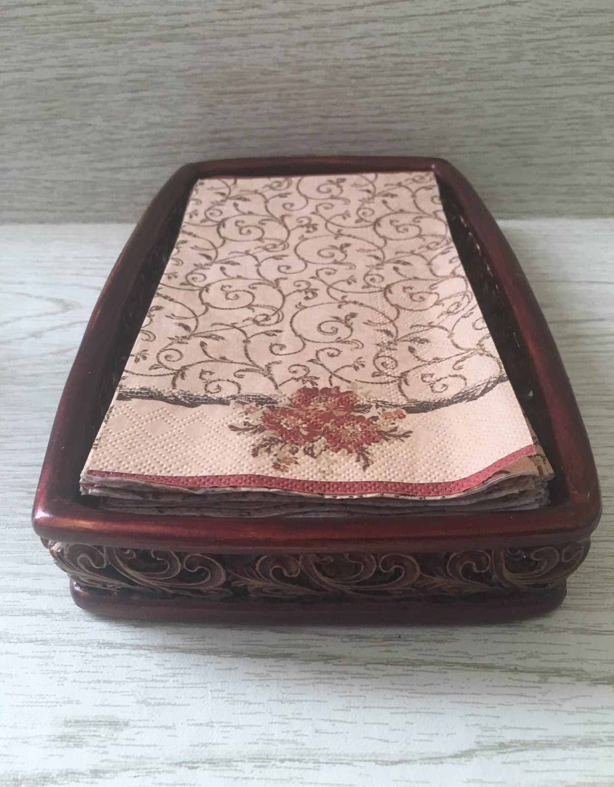 Enchino Tray Napkin Holder India Ink