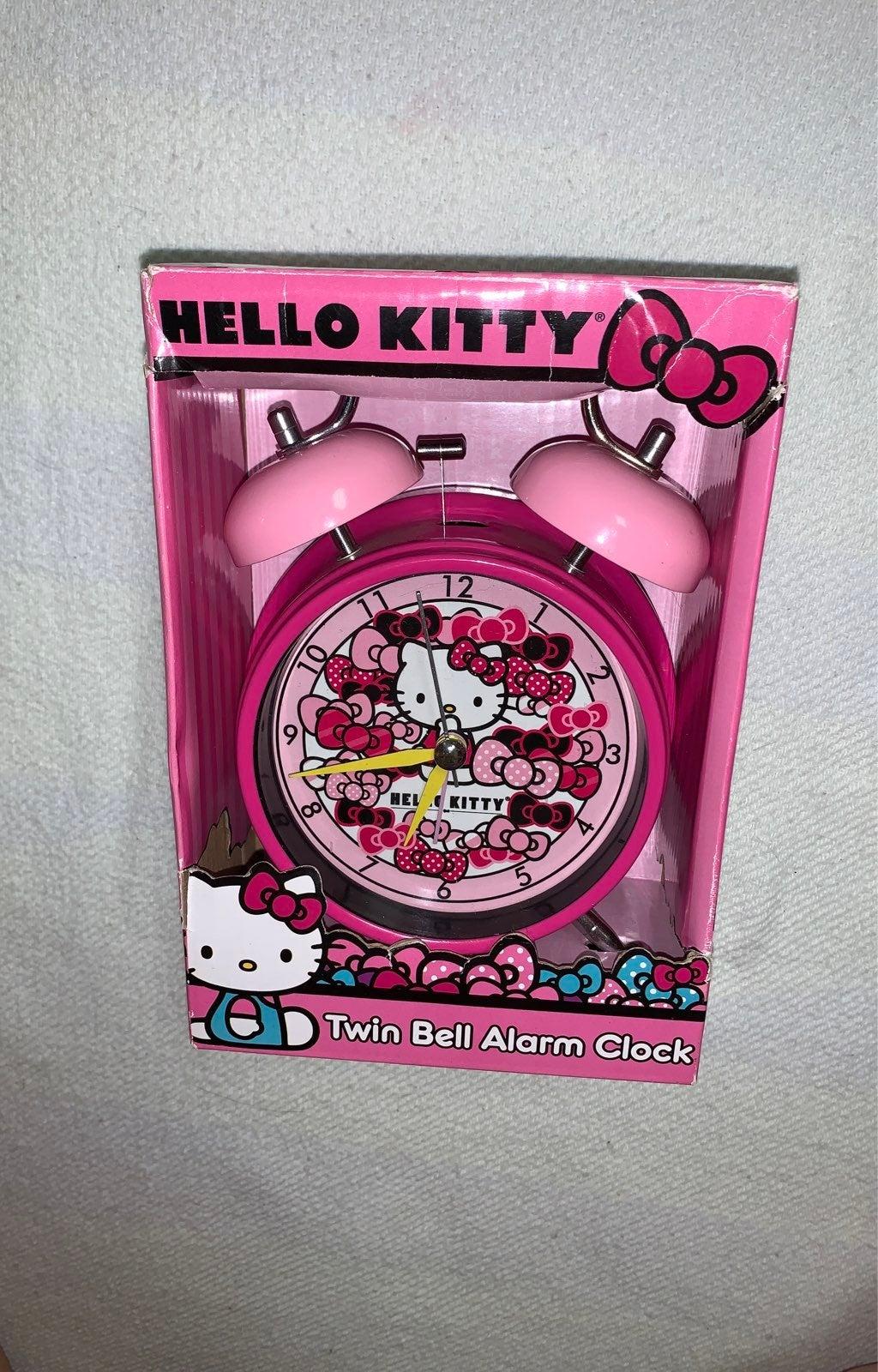 Hello Kitty Twin Bell Alarm Clock New!
