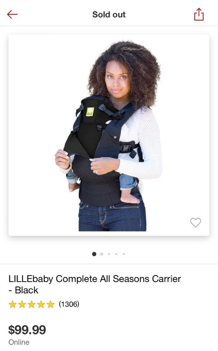 Lille baby carrier black