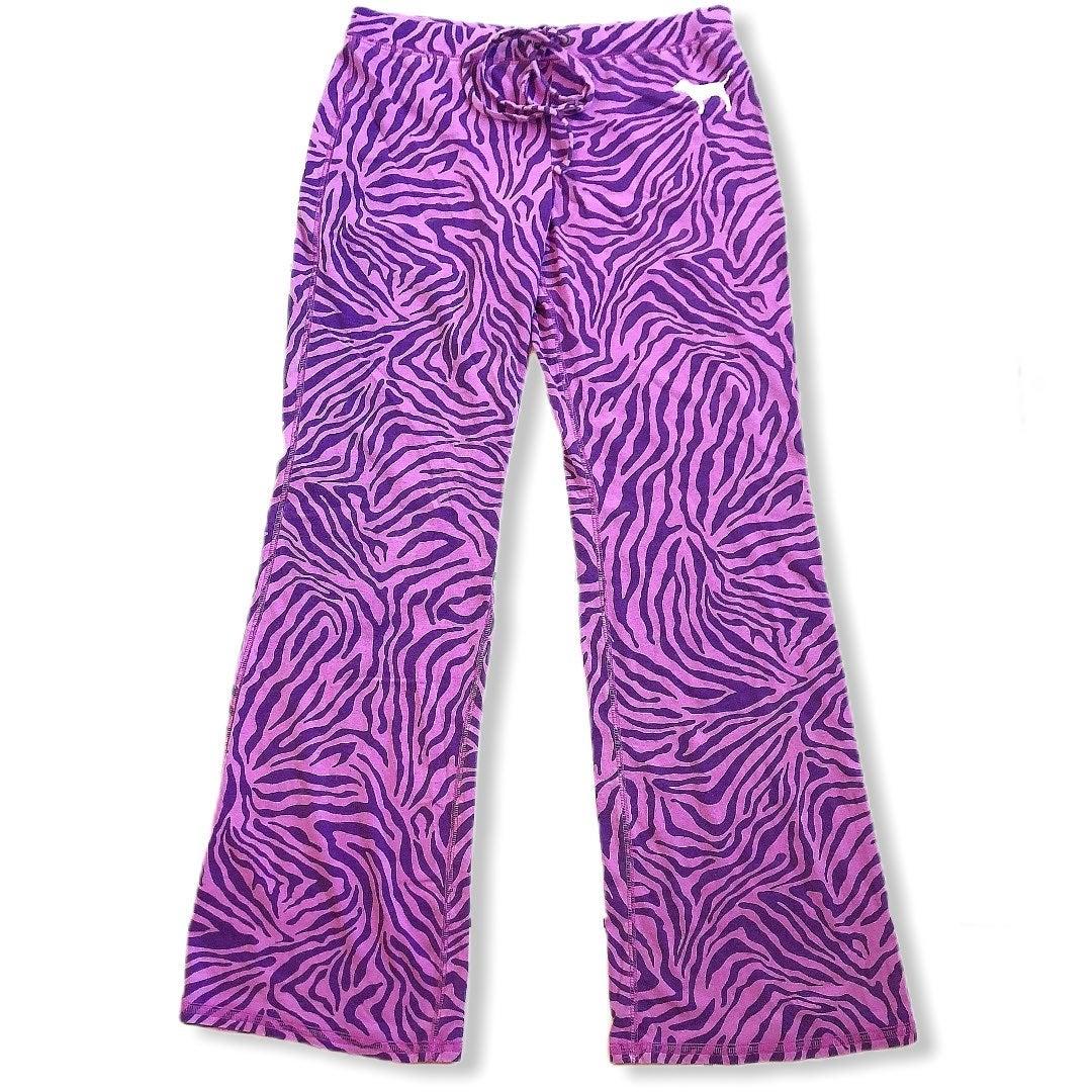 Victoria's Secret PINK purple zebra pant
