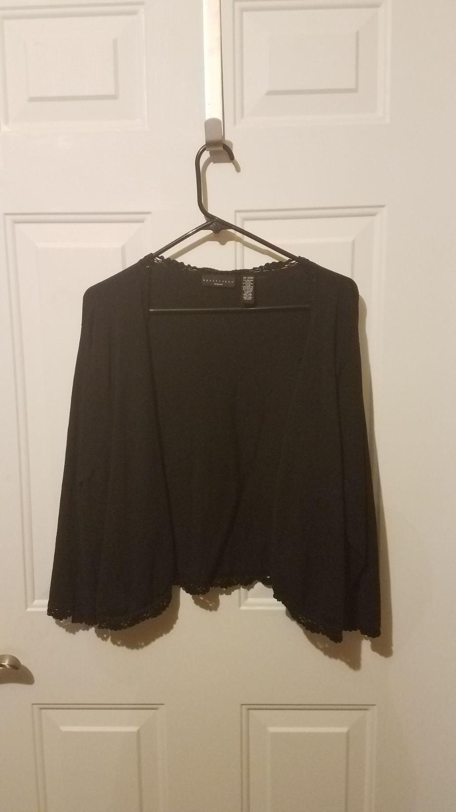 Apostrophe 20-22w black cardigan