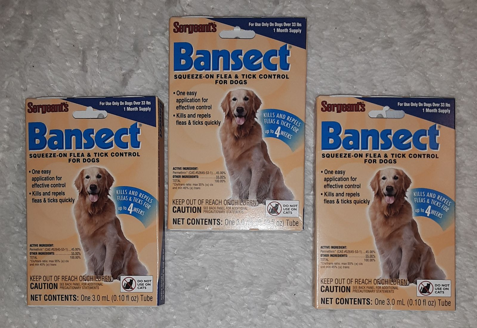 BANSECT SQUEEZE-ON FLEA CONTROL FOR DOGS