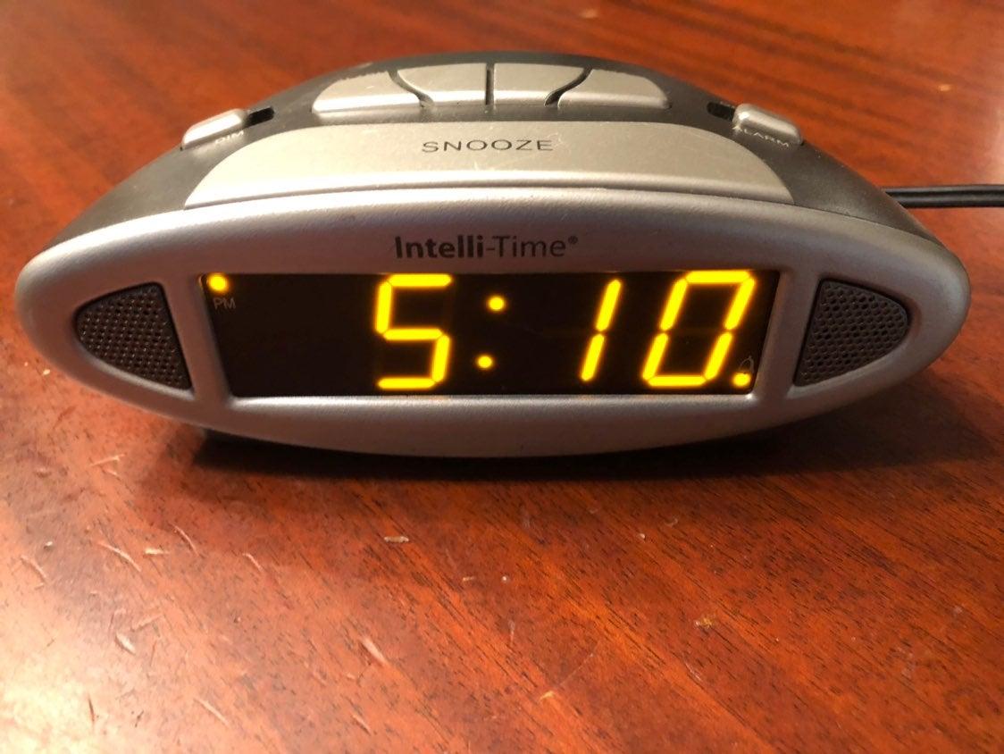 Alarm Clock Intelli Time Large Display