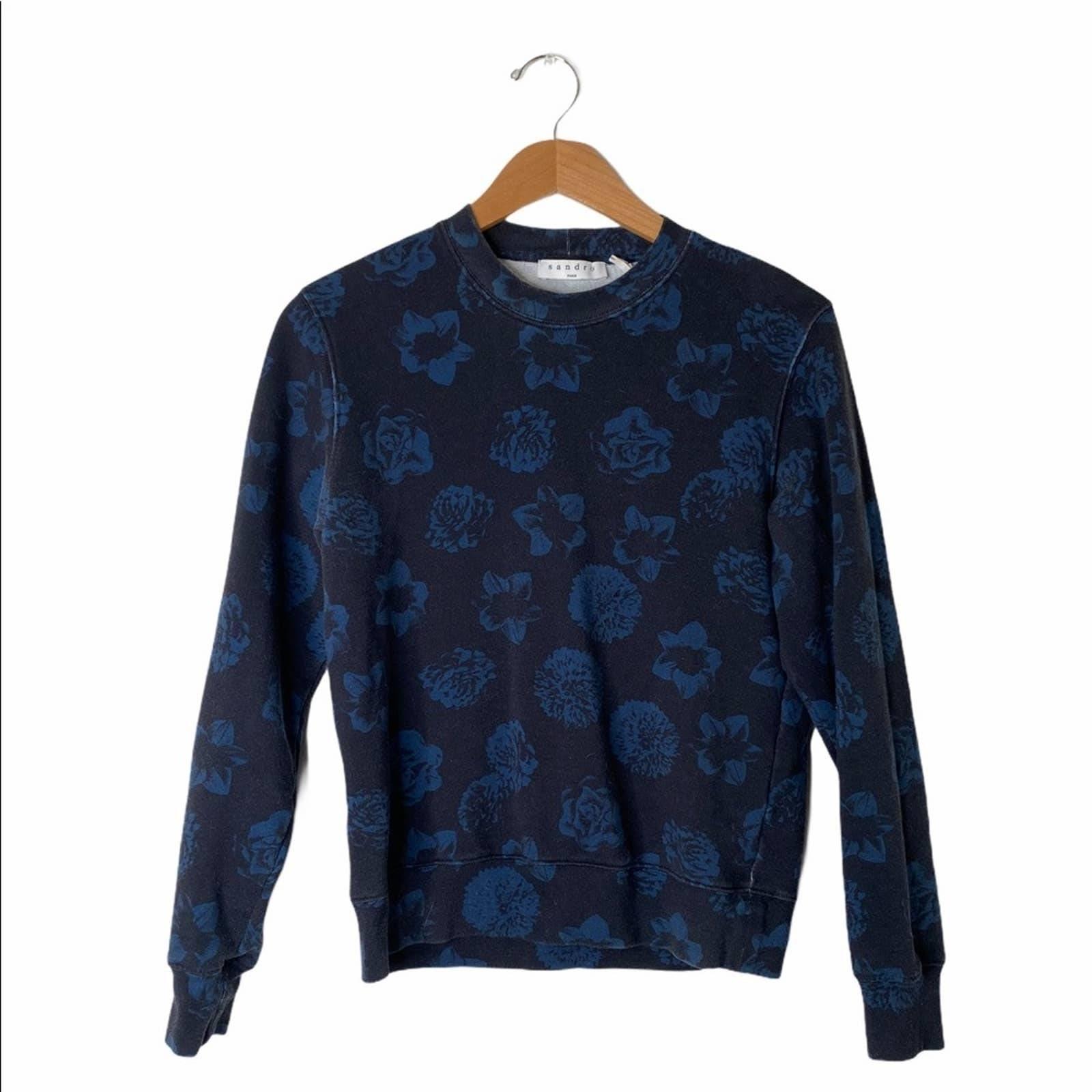 Sandro Paris Floral Print Sweatshirt