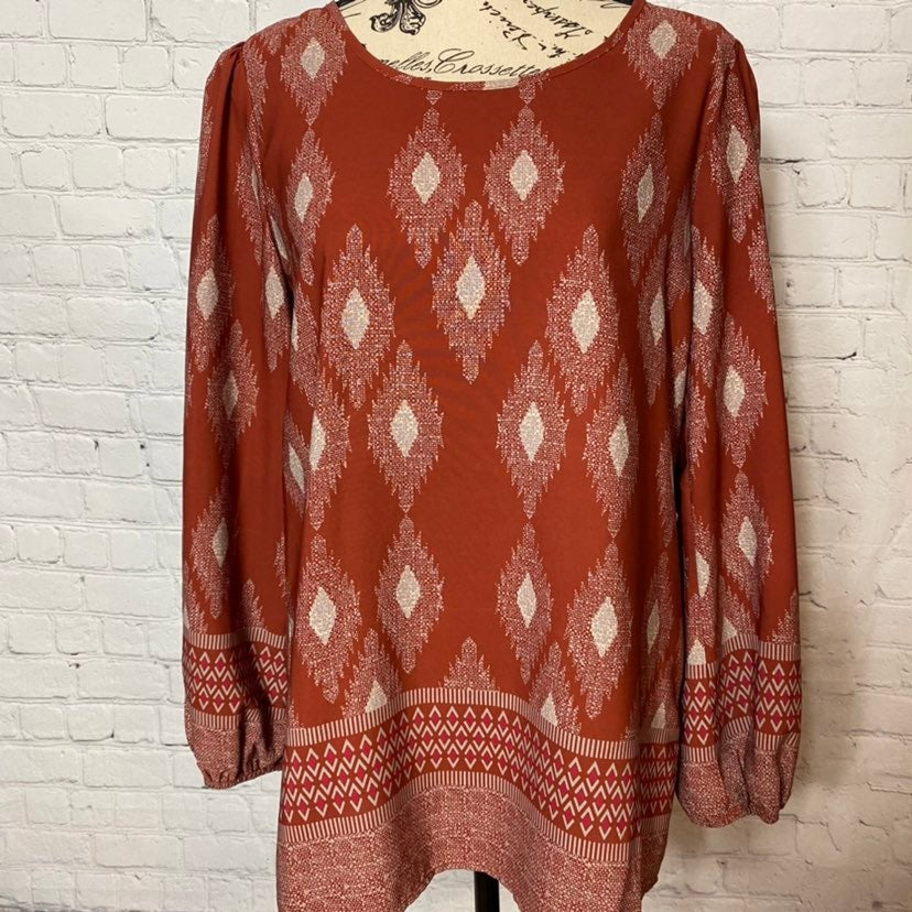 PINK OWL APPAREL BOHO TRIBEL BLOUSE