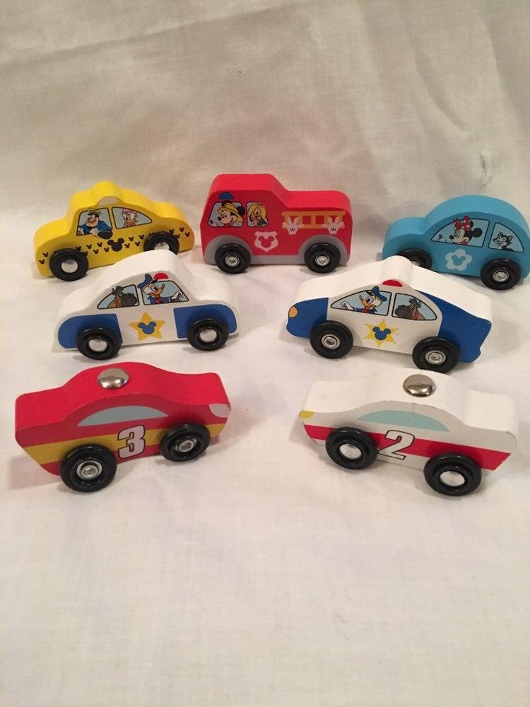 Disney Melissa & Doug Wood Cars.