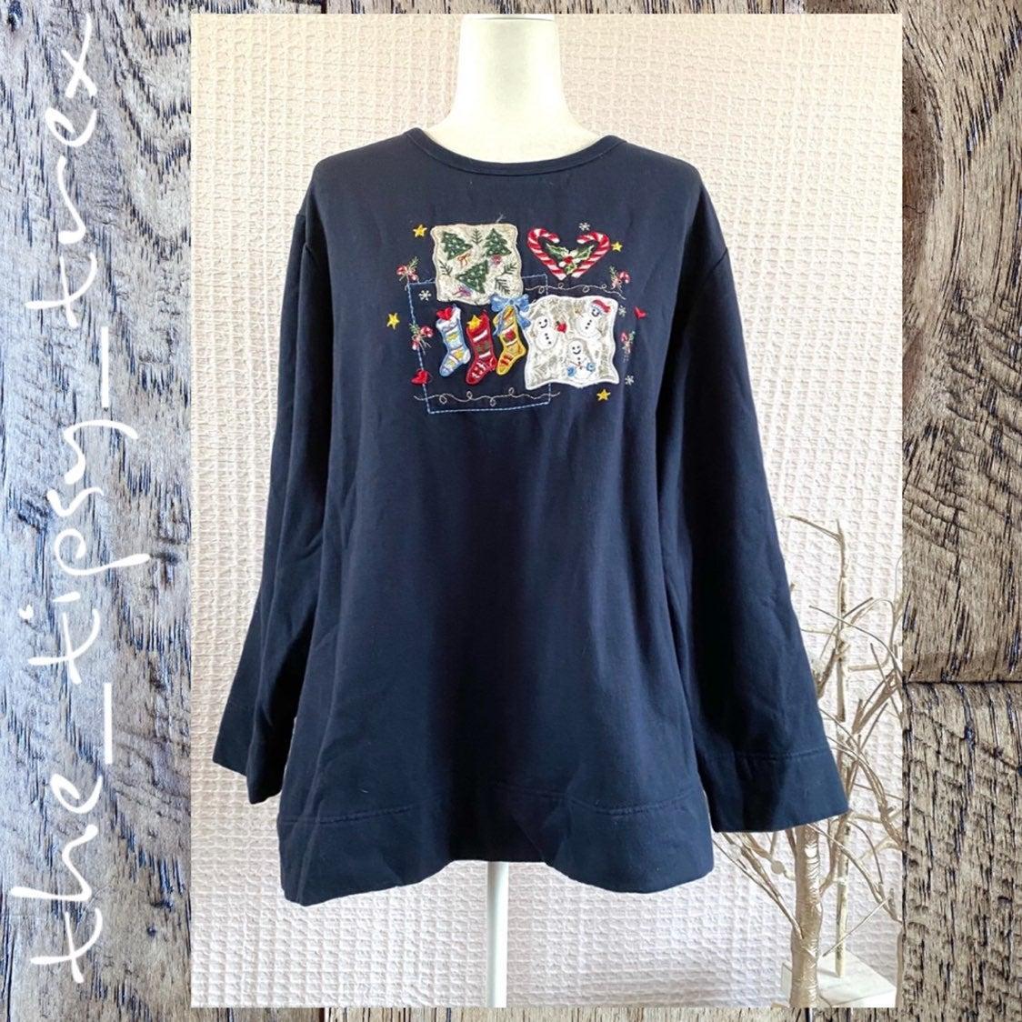 Bobbie Brooks Christmas Sweatshirt 4X