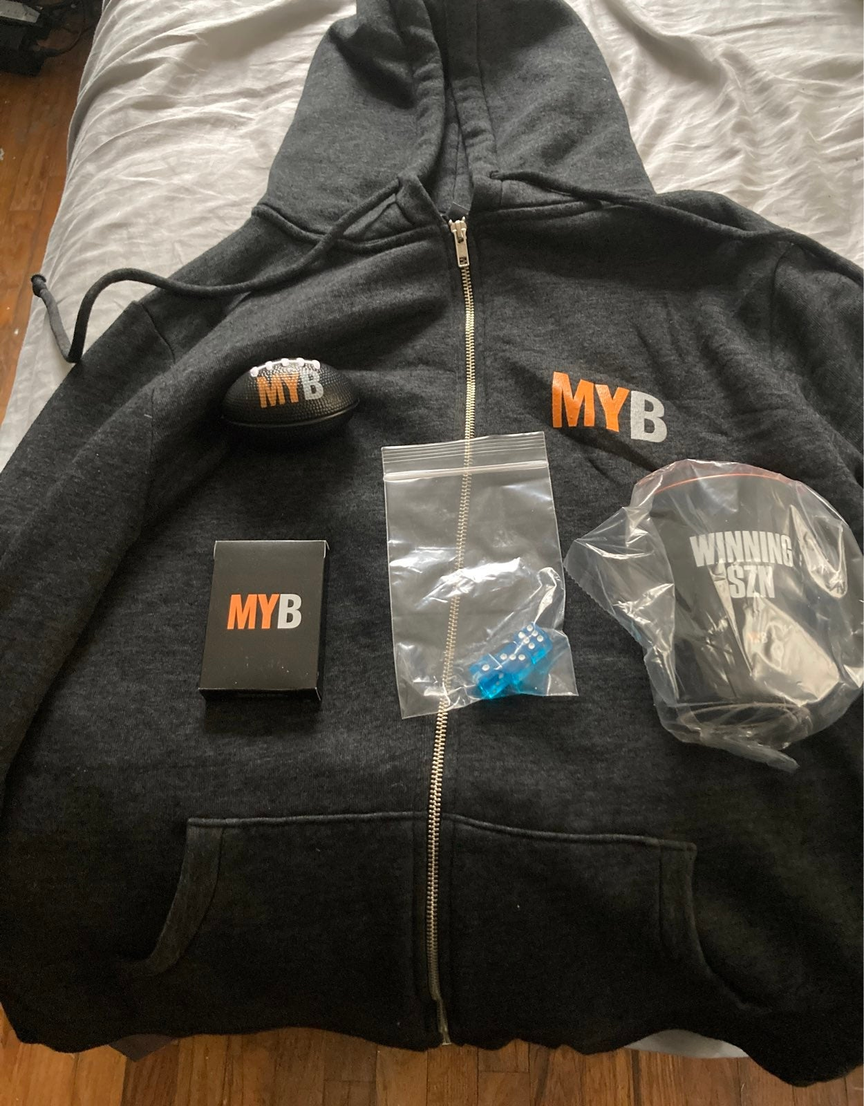 MYB My Bookie Hoodie, Mug, Cards, Dice