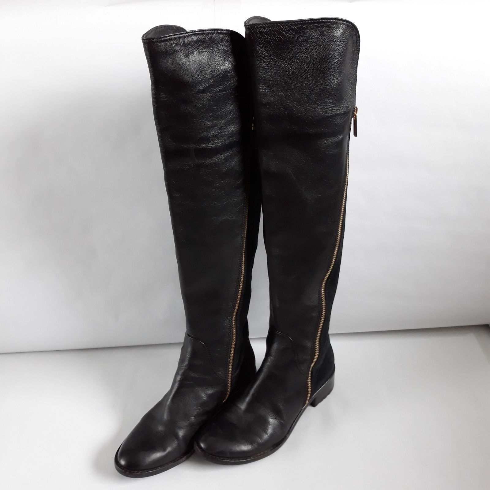 Michael Kors Leather Over The Knee Boots