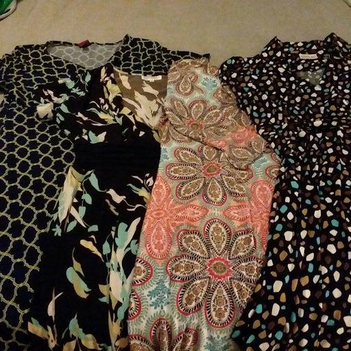 Four dress bundle size large